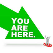 Clip Art of You are Here.