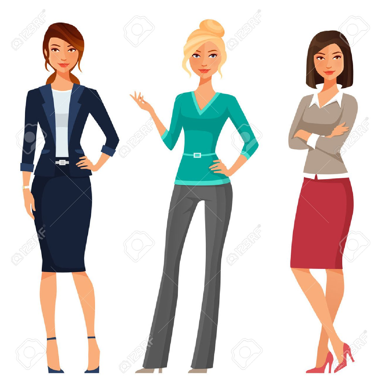 Young women clipart 6 » Clipart Station.