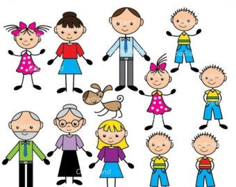 Kids Clipart My Family Clip Art Set 1 by InknLittleThings.