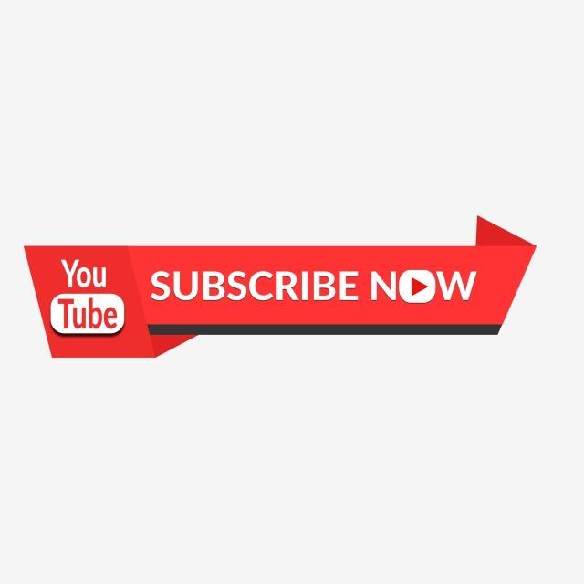Youtube Subscribe Button Vector Banner, Subscribe, Youtube.