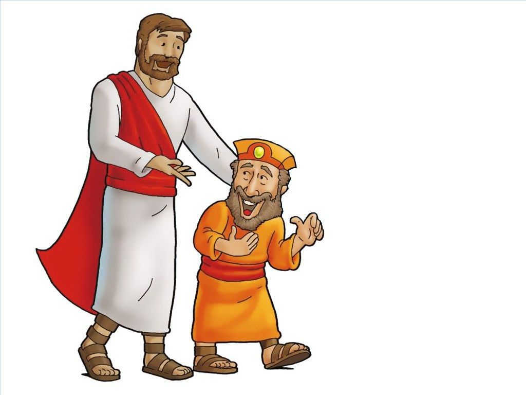 Free Visuals: Jesus meets Zacchaeus.