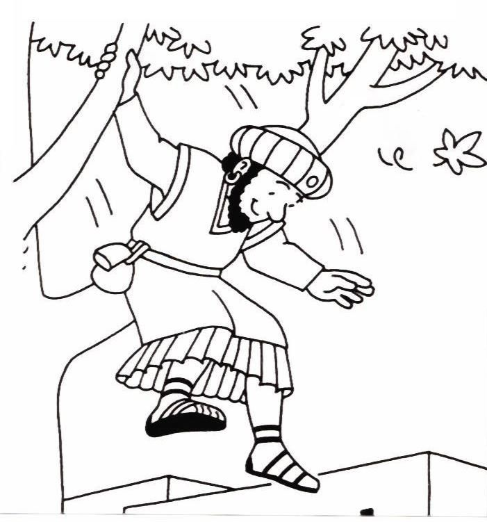Free Jesus And Zacchaeus Coloring Page, Download Free Clip.