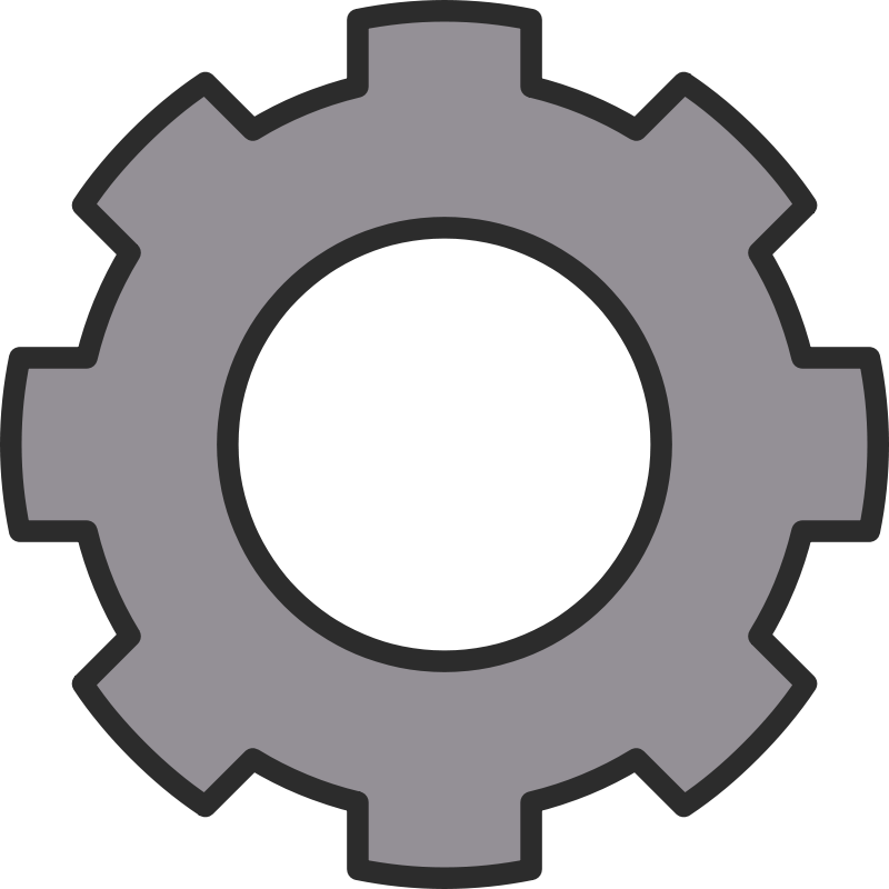Free Clipart: Cog, cogwheel, gear, Zahnrad.