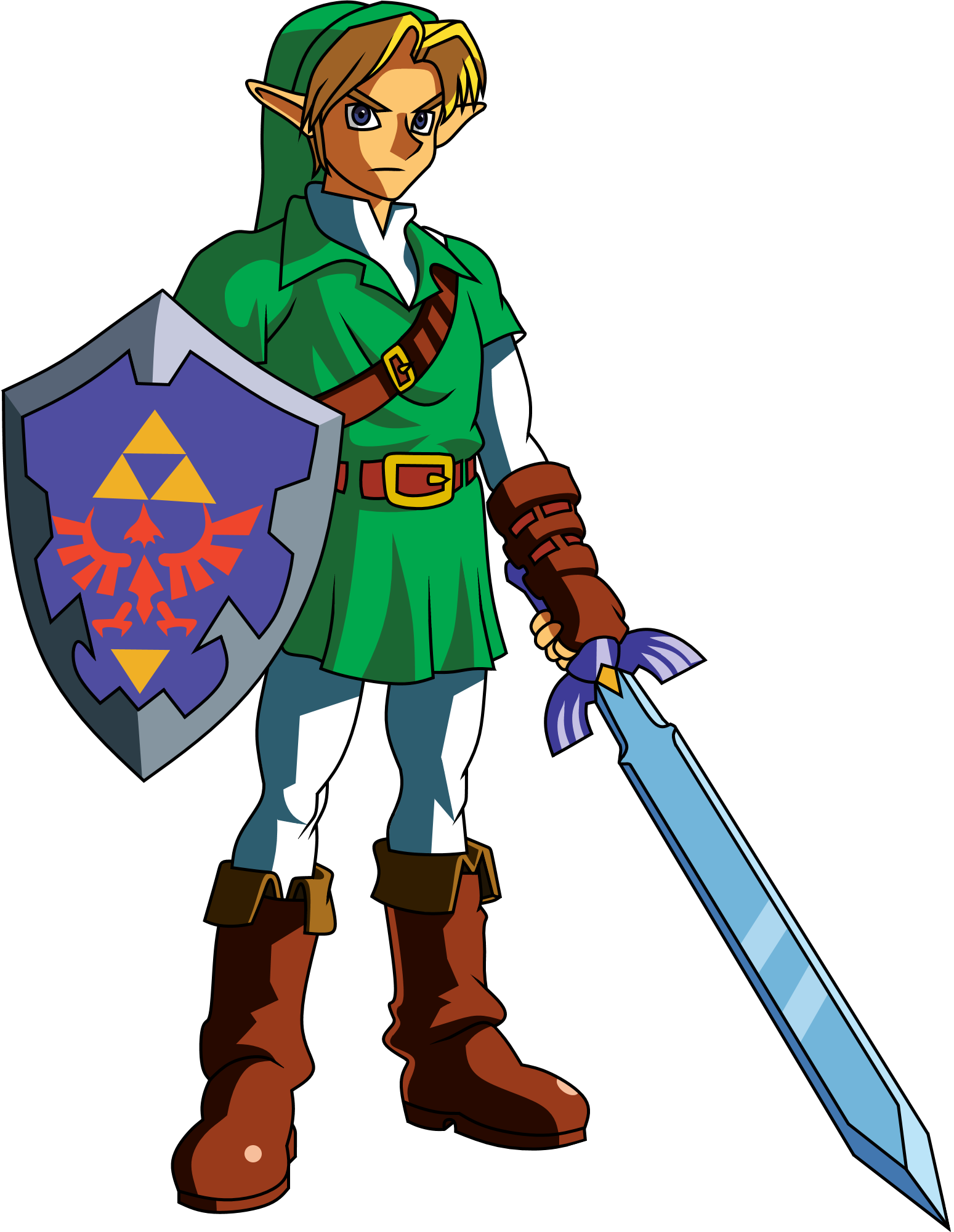 Link (Ocarina of time) clipart.