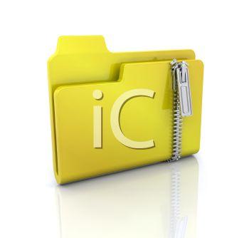 3D File Folder with a Zipper Lock.