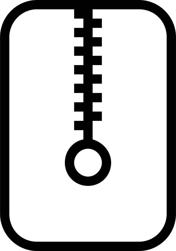 Zip File Stroke Symbol Svg Png Icon Free Download (#54152.