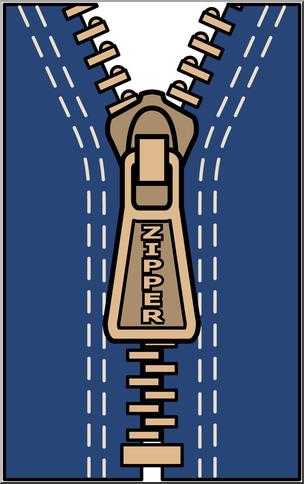 Clip Art: Zipper Color I abcteach.com.