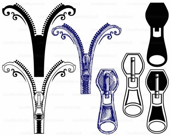 Zipper svg/zipper clipart/zipper svg/zipper silhouette/zipper cricut/zipper  cut files/zipper clip art/zipper digital download/svg/designs.