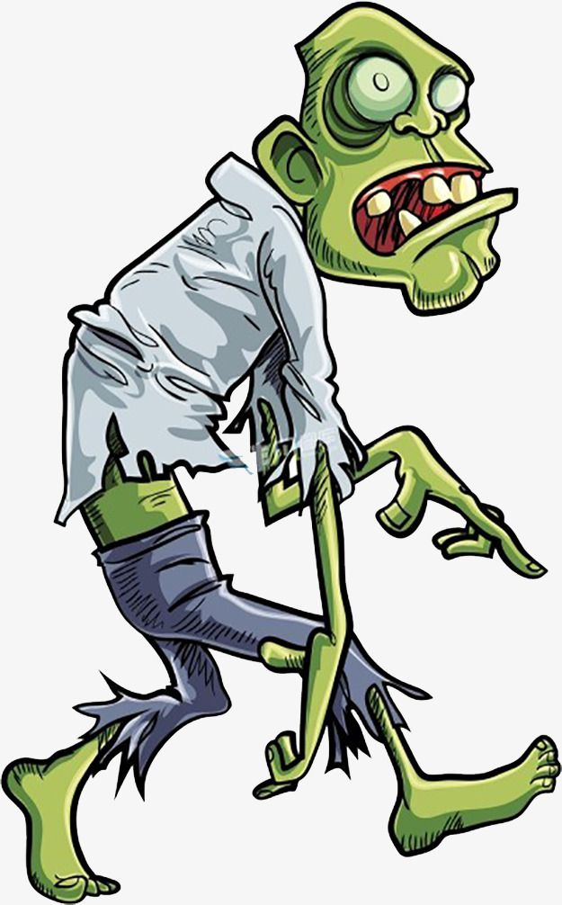 Cartoon Zombie, Cartoon Clipart, Zombie Clipart, Walking.
