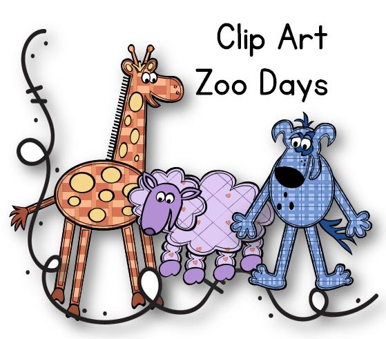 Clipart Bundle [Zoo Days] Editable.
