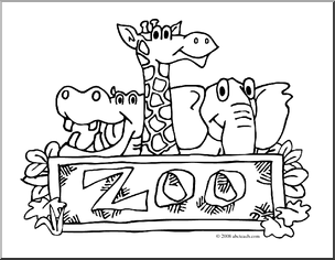 Free Black And White Zoo Clipart, Download Free Clip Art.