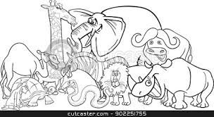 zoo clipart black and white.