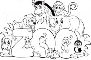 Zoo animals clipart black and white 5 » Clipart Station.