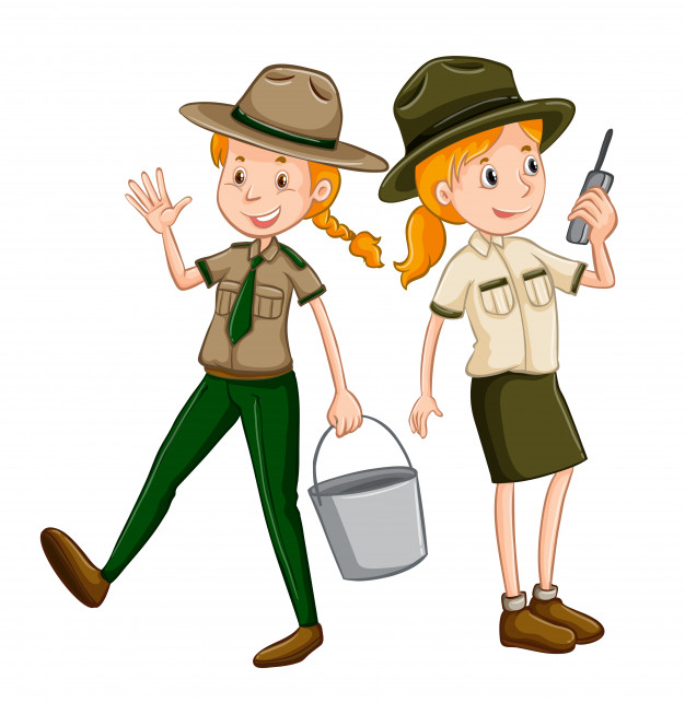 Isolated zookeeper on white background Vector.
