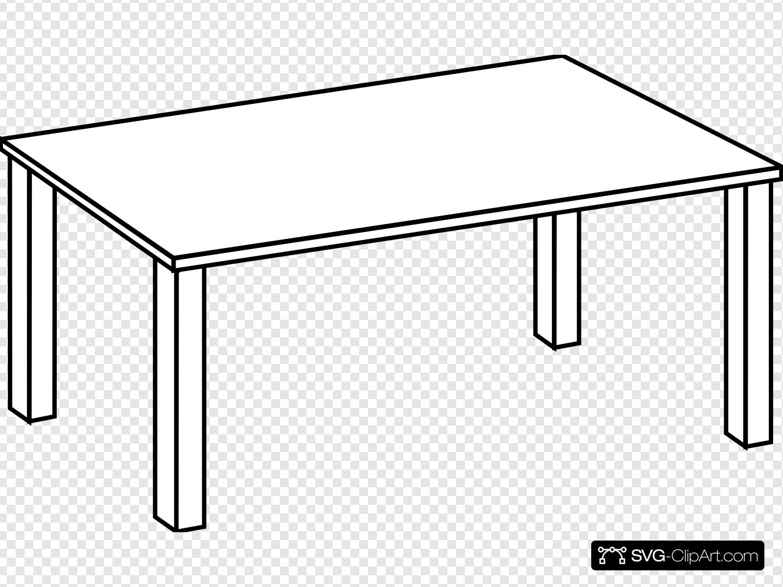 Table Line Art Clip art, Icon and SVG.