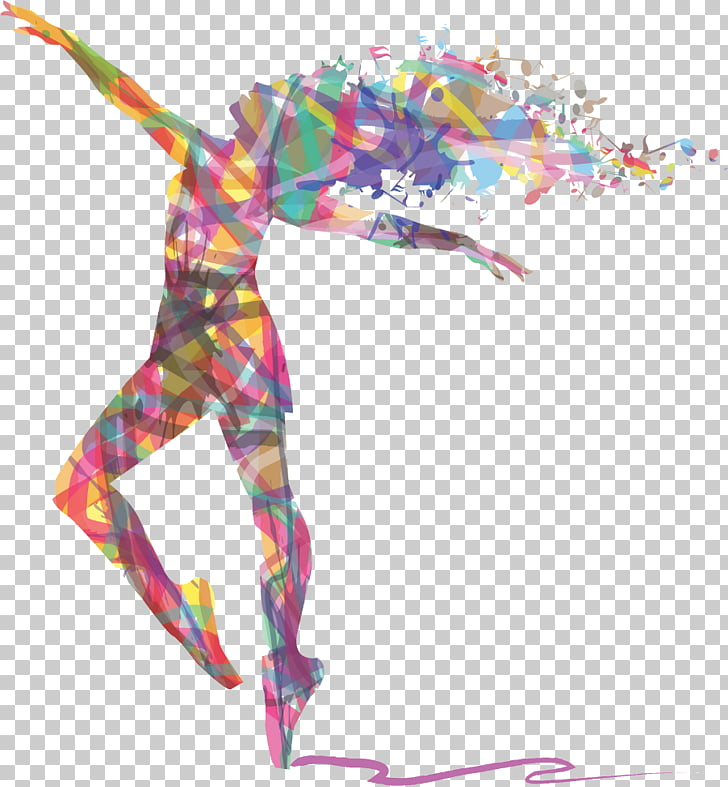 Ballet Dancer Art, zumba, multicolored woman dancing illustration.