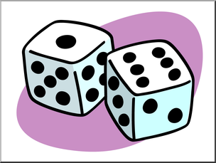Clip Art: Basic Words: Dice Color Unlabeled I abcteach.com.