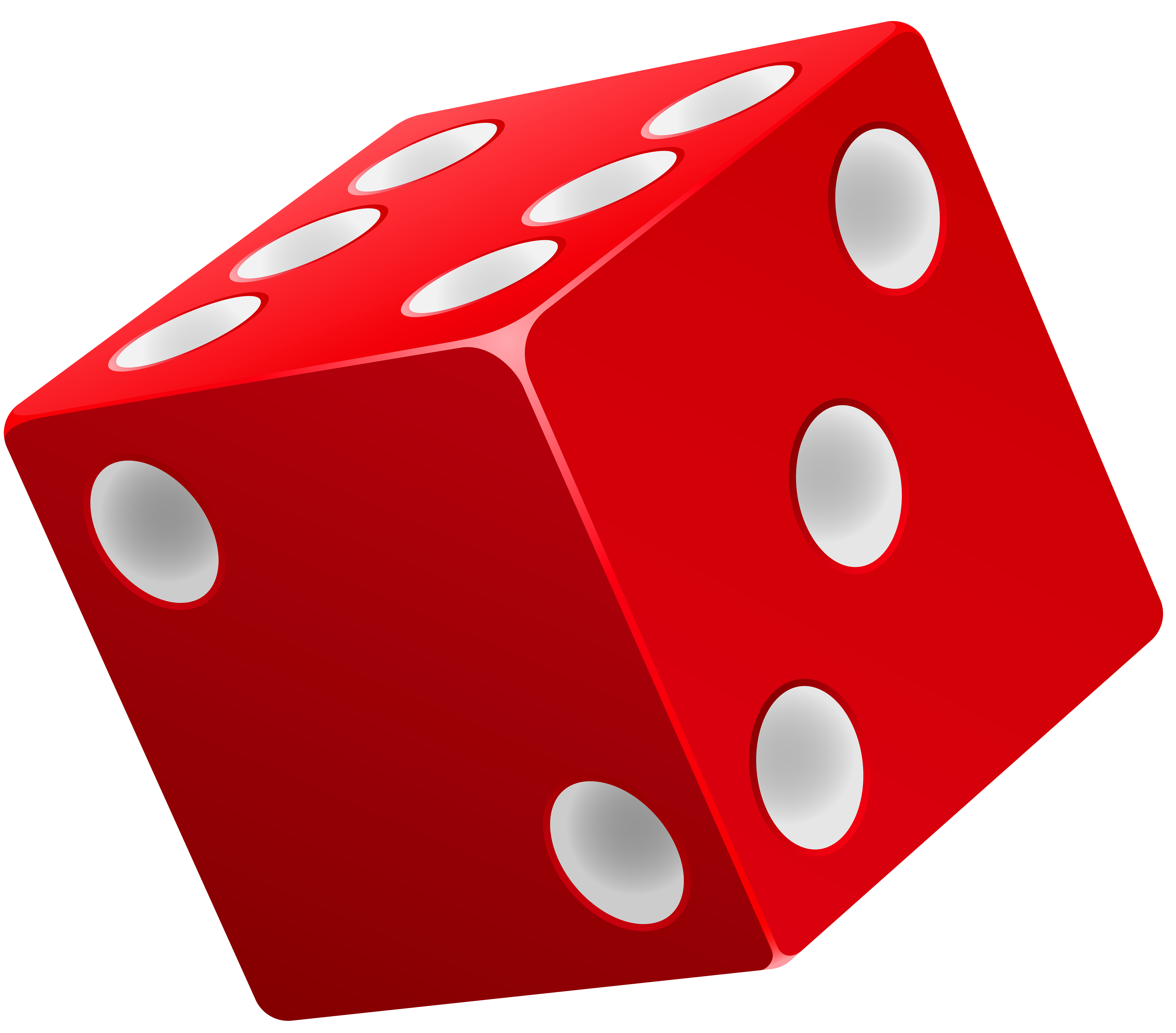 Dice Red PNG Clip Art.