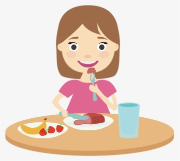 Free Eating Dinner Clip Art with No Background.