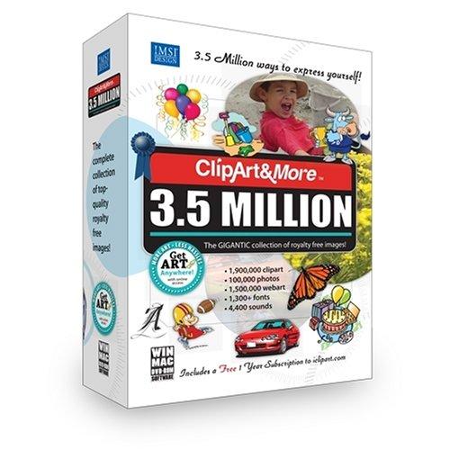 Clipart&more 3.5 Million Clipart Fonts Photos & More [Old Version].