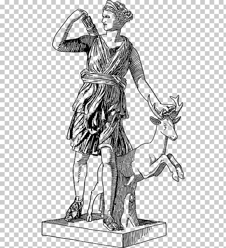 Artemis Triple Goddess Greek mythology , Goddess PNG clipart.