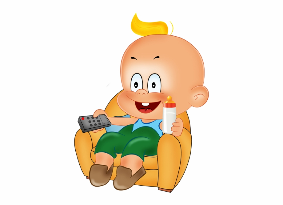 Funny Baby Boy Playing Cartoon Clipart.