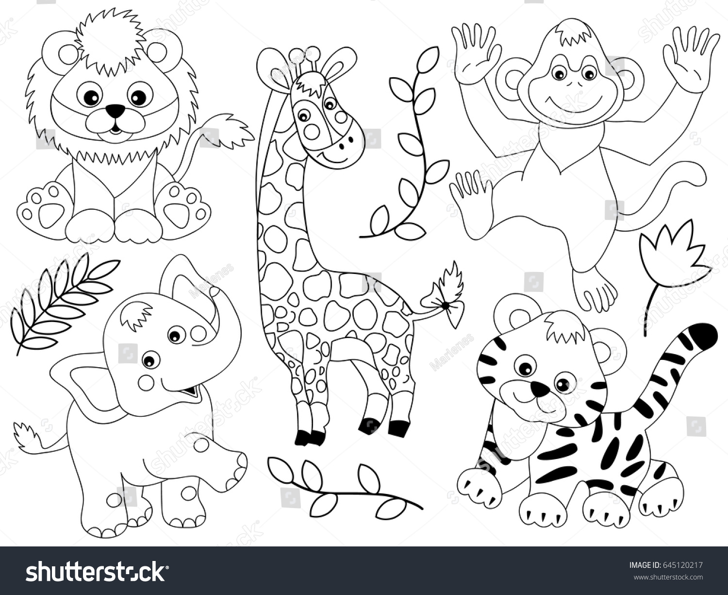 Jungle animals clipart black and white 6 » Clipart Station.