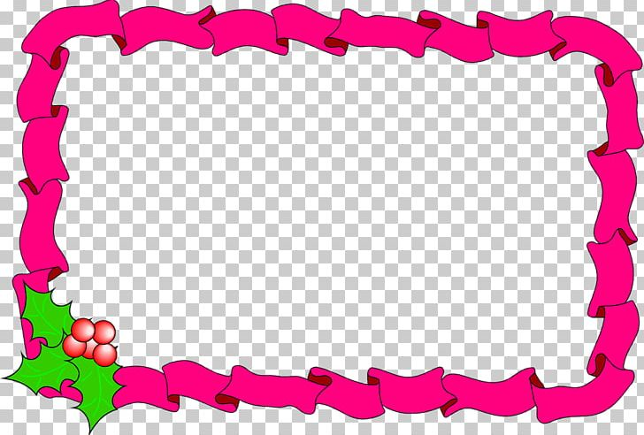 Borders And Frames Candy Cane Christmas Decoration PNG.