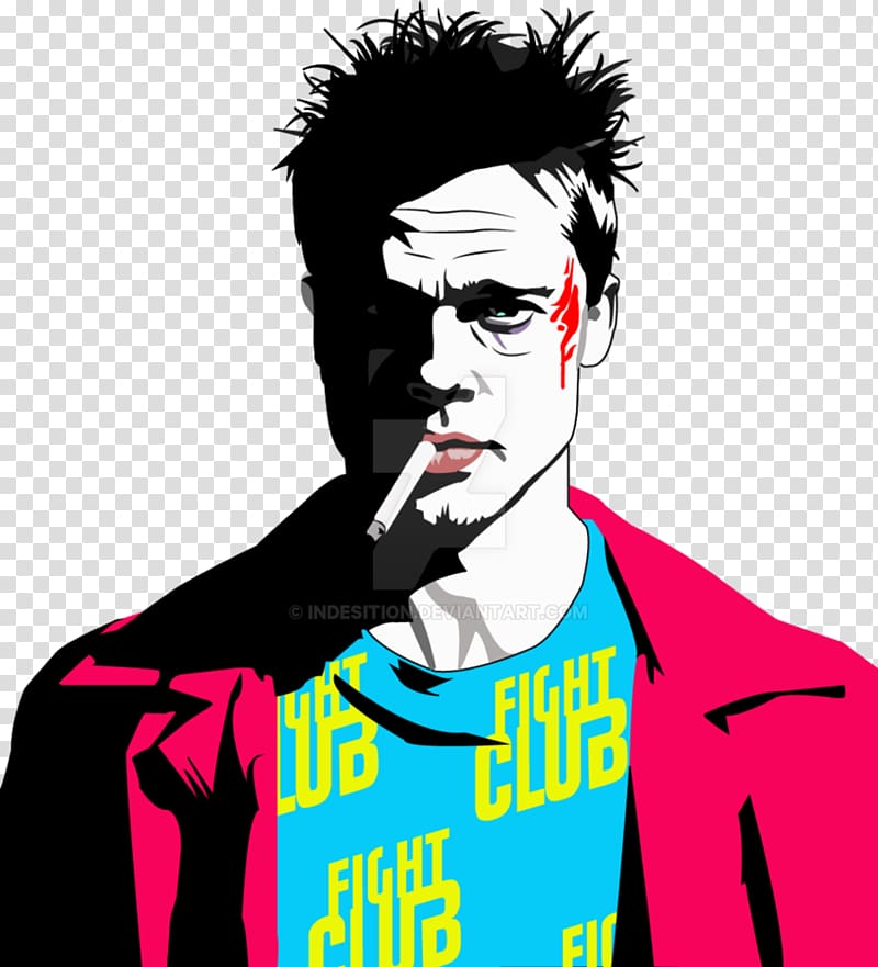 Brad Pitt Tyler Durden Fight Club 2, brad pitt transparent.