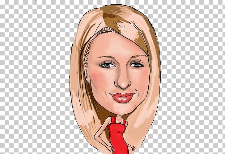 Paris Hilton Cartoon Socialite , brad pitt PNG clipart.