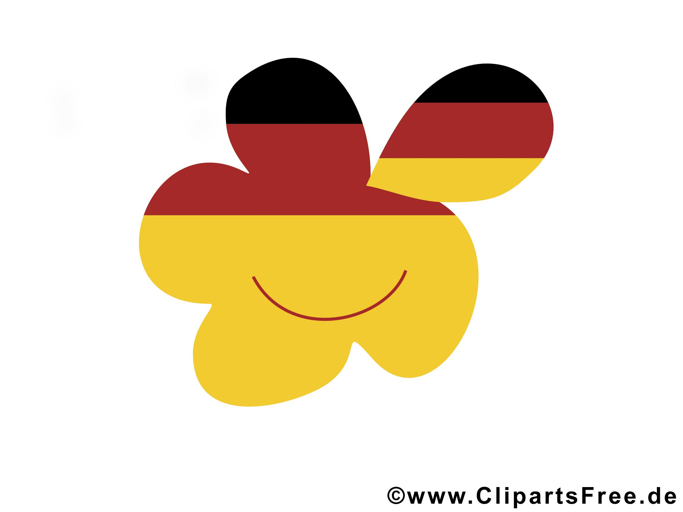 Tag der deutschen Einheit schulfrei Clipart, Bild, Plakat.