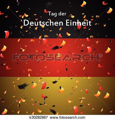 Clip Art of Day of German unity design. Tag der deutschen Einheit.