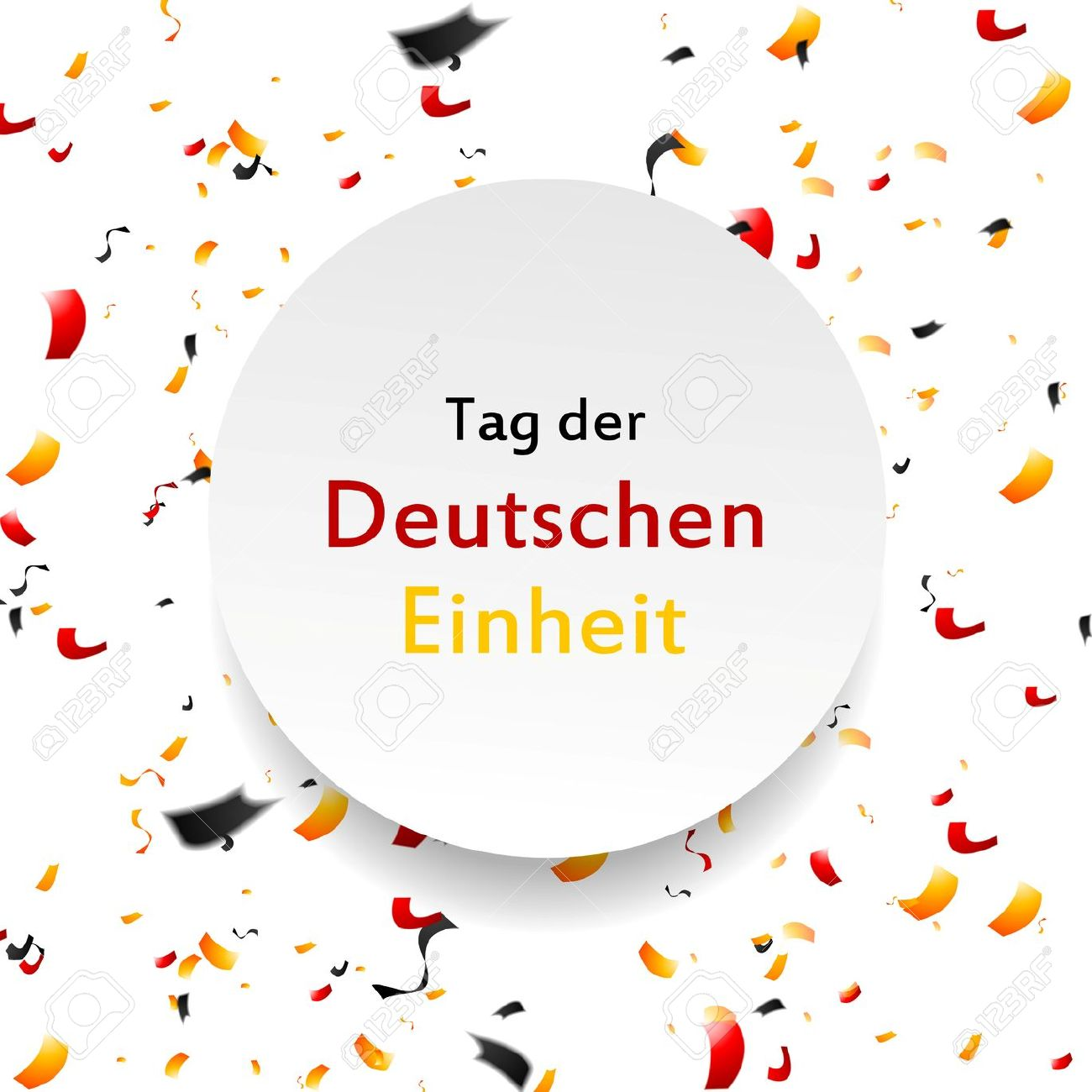 Day Of German Unity Background. Tag Der Deutschen Einheit. Vector.