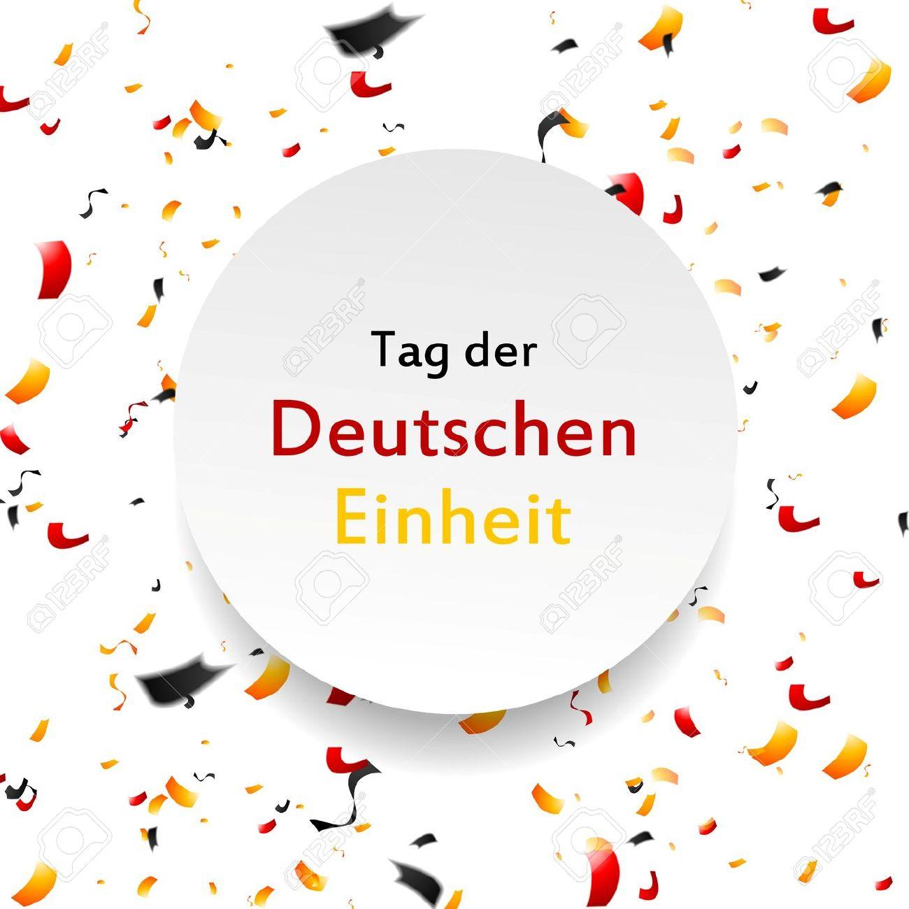Day Of German Unity Background. Tag Der Deutschen Einheit. Vector.