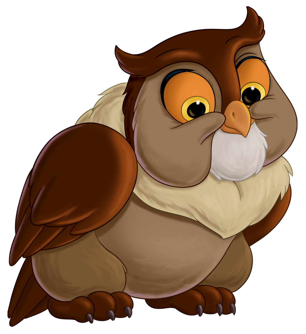 Bambi Friend Owl Transparent PNG Clip Art Image.