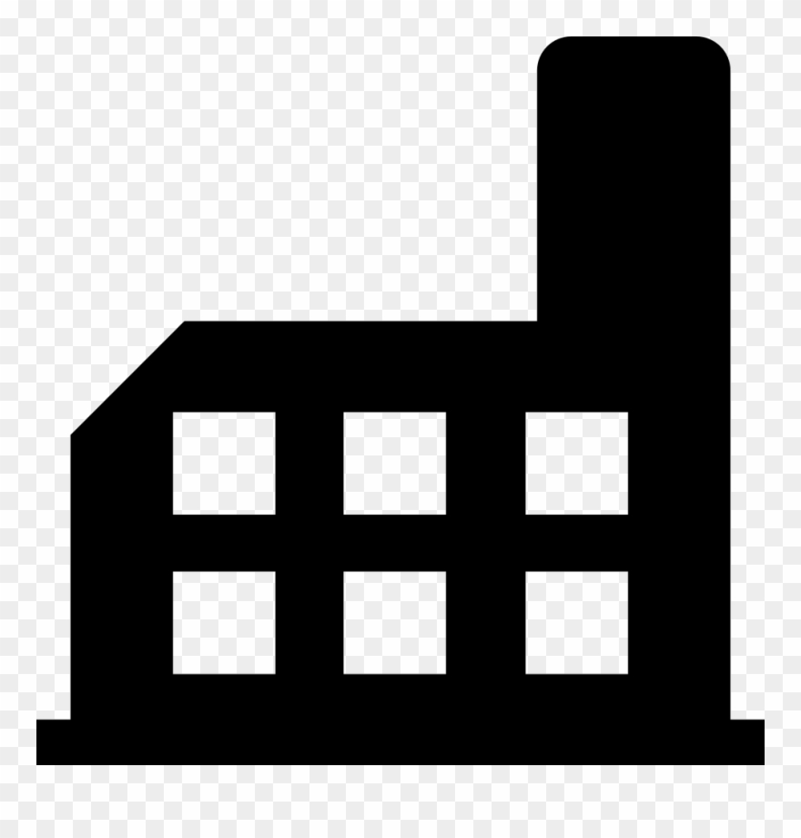 Factory Building Silhouette Svg Png Icon Free Download.