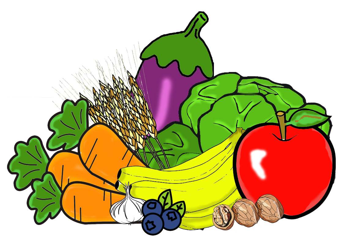Fruits and Vegetables Clipart to printable to.