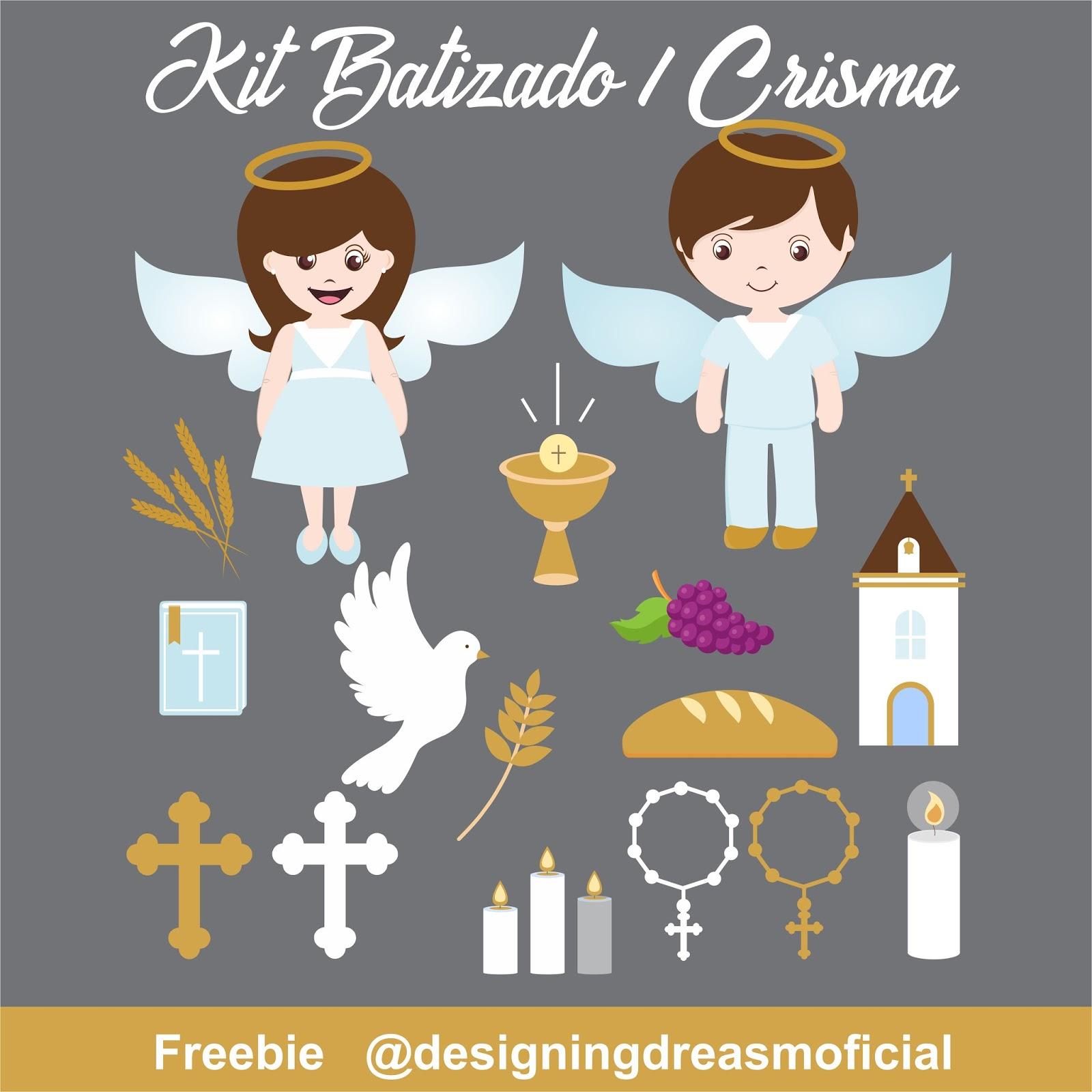 KIT DIGITAL BATIZADO/CRISMA GRÁTIS PARA BAIXAR CLIPARTS.