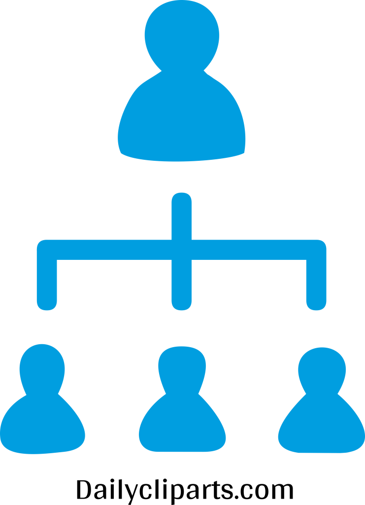 Boss 3 Managers Office Hierarchy Icon Image.