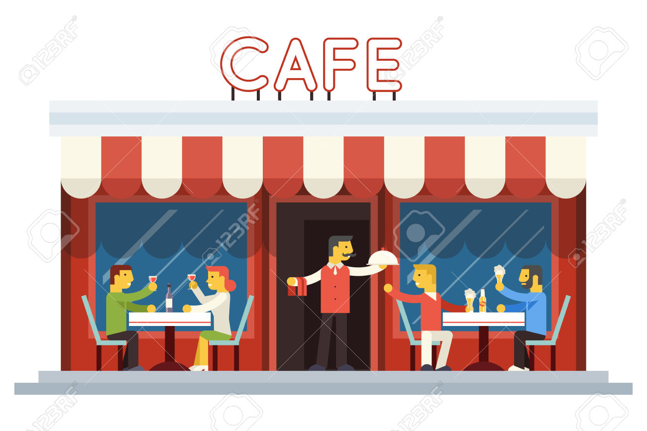 Cafe Building Clip Art.