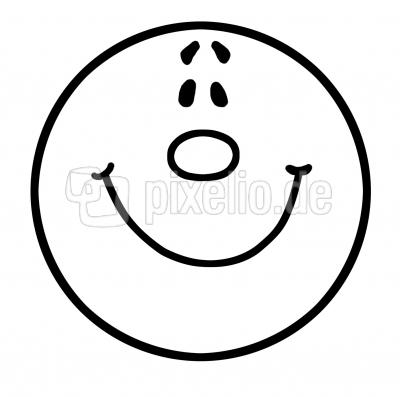 Cliparts Smiley Schwarz Weiss.