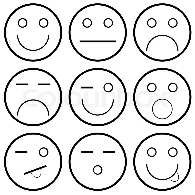 Straight Line Smiley Face Clip Art : Cliparts smiley schwarz weiss clipground