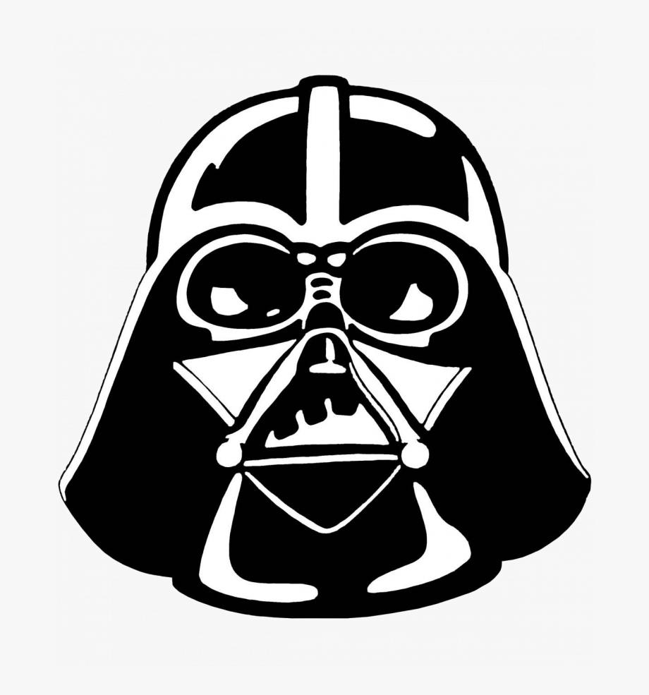 Exciting Star Wars Clip Art Darth Vader Stencil Clipart.