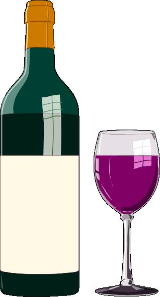 Bottiglia Di Vino Pregiato Clip Art.