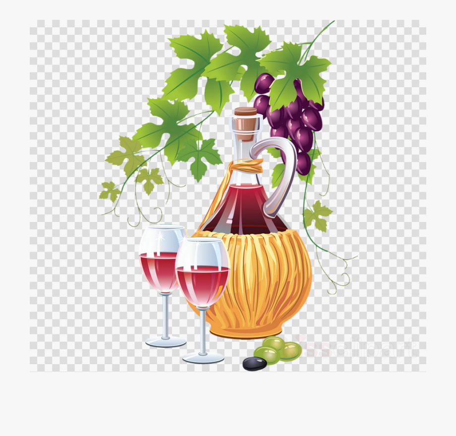 Wine Glass Clipart Red Wine Common Grape Vine.