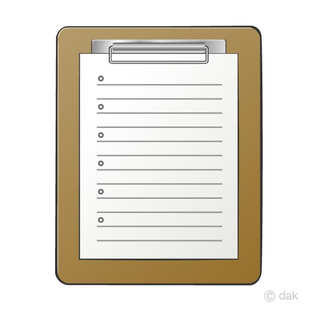 Clipboard Clipart Free Picture|Illustoon.