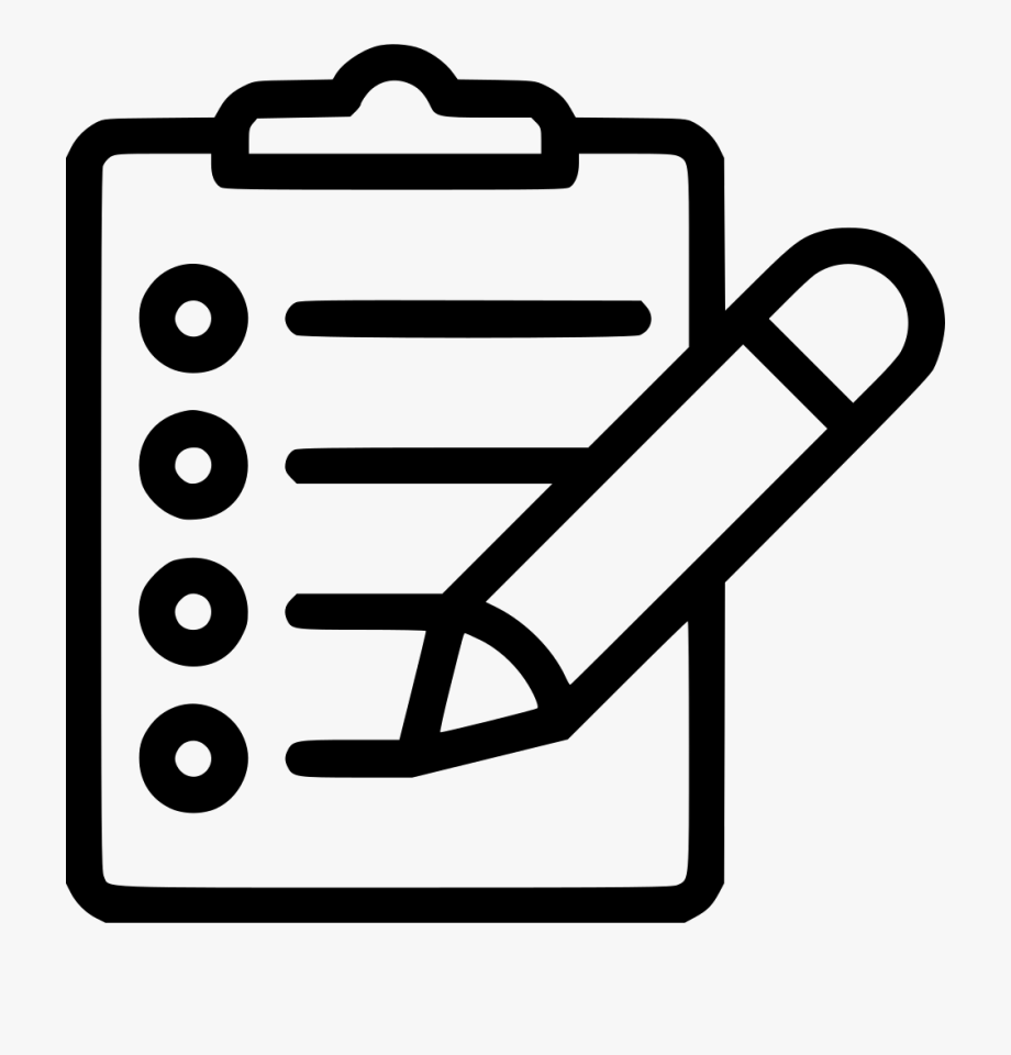Clipboard Pencil Svg Png Icon Free Download.