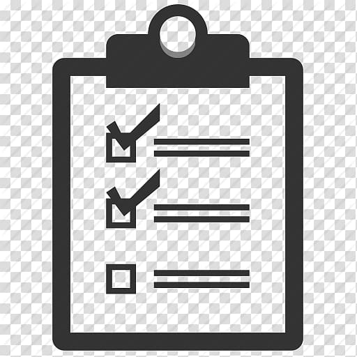 Black clipboard illustration, Computer Icons Checklist Check.