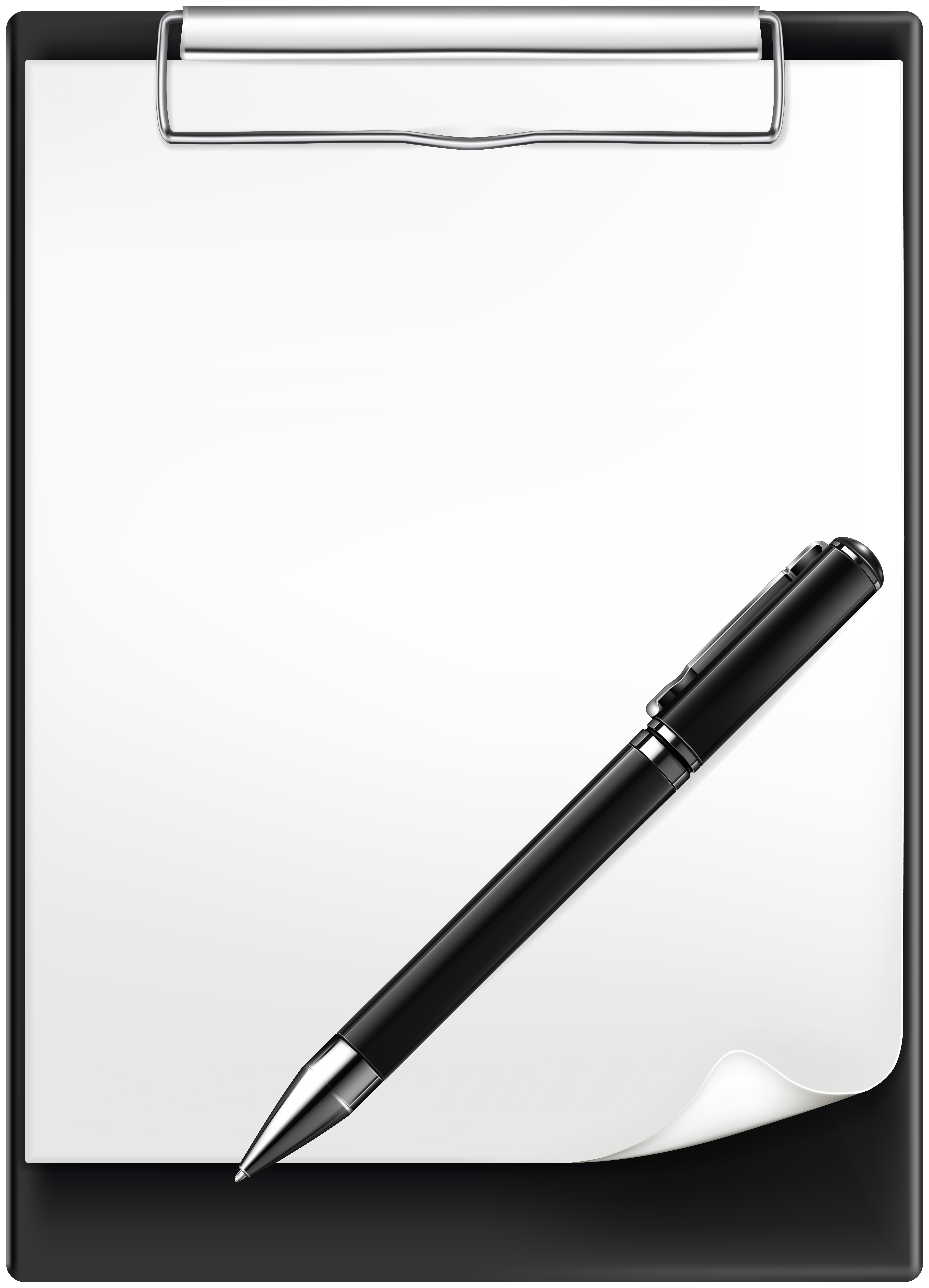 Clipboard and Pen PNG Clip Art Image.