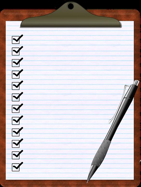 Checklist Clipboard Pen.